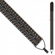 PNWSCL2167 CLASSICAL GUITAR STRAP WITH HOOK - MULTI WOVEN