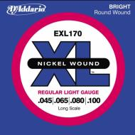 Set žica za bas gitaru Regular Light 45-100 - EXL 170